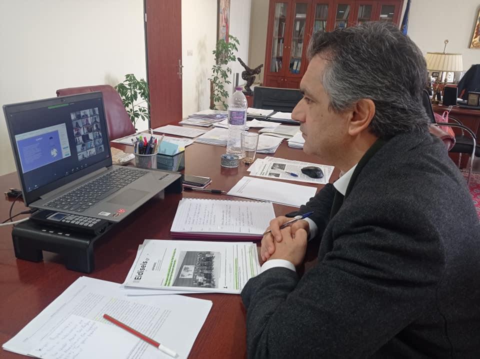 Διαδικτυακή συνάντηση της φοιτητικής ομάδας Αεροδιαστημικής ASPiRE με τον Περιφερειάρχη Δυτικής Μακεδονίας