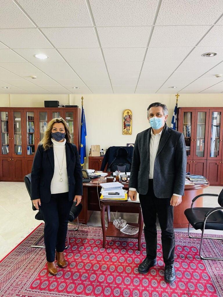 Στην έδρα της Περιφέρειας Δ.Μ. η Επικεφαλής του Γραφείου Μακεδονίας του Πρωθυπουργού Μαρία Αντωνίου