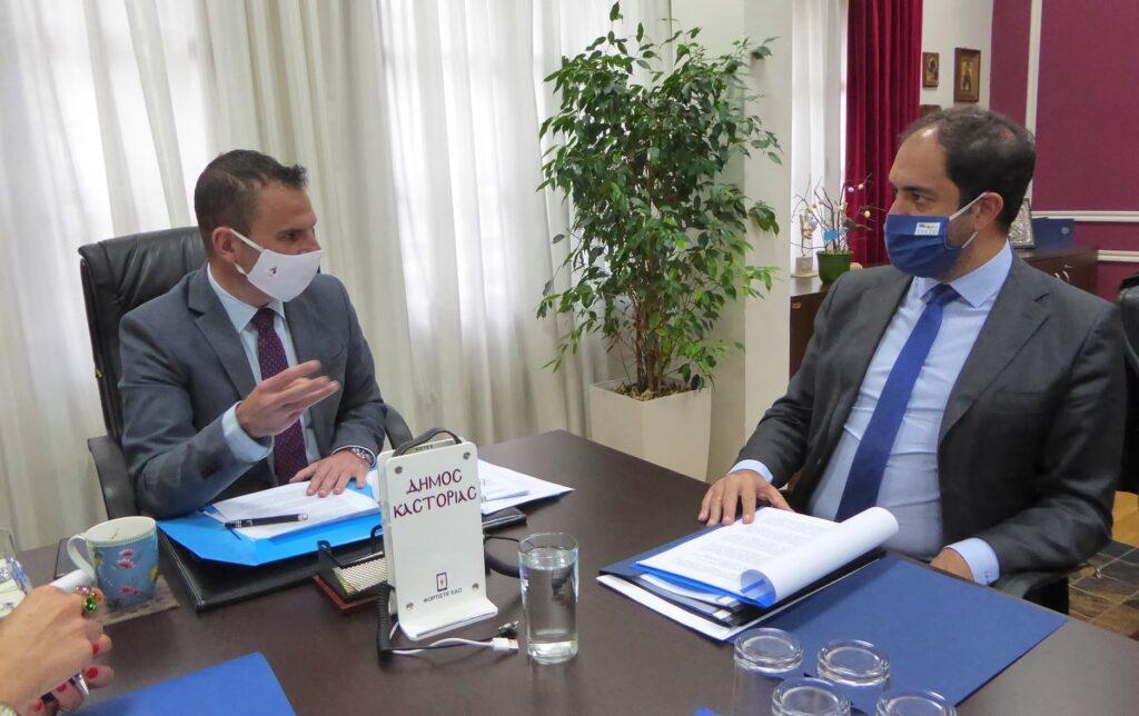 Επίσκεψη του Υφυπουργού Υποδομών & Μεταφορών κ. Γιάννη Κεφαλογιάννη στον Δήμαρχο Καστοριάς