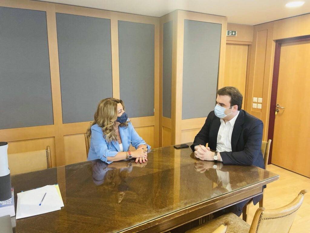 Ζητήματα ψηφιακού μετασχηματισμού στο επίκεντρο της συνάντησης Μαρίας Αντωνίου – Κυριάκου Πιερρακάκη