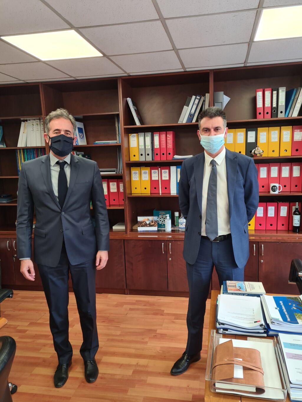 Συναντήσεις του Βουλευτή ΠΕ Κοζάνης Στάθη Κωνσταντινίδη με τους ΓΓ Δημοσίων Επενδύσεων και ΕΣΠΑ, Δημήτρη Σκάλκο και Ιδιωτικών Επενδύσεων και ΣΔΙΤ, Ορέστη Καβαλάκη.