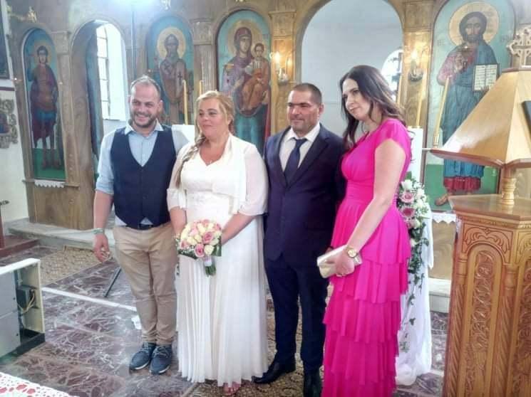 Με τα ιερά δεσμά του γάμου ενώθηκαν ο Παναγιώτης Τάσιος και η Ευλαμπία Δουκάκη