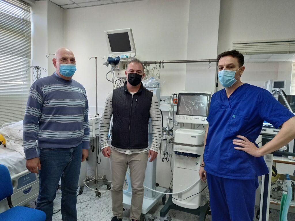 Με δυο νέους αναπνευστήρες βαρέως τύπου εξοπλίστηκε η Μονάδα Εντατικής Θεραπείας του Γενικού Νοσοκομείου Κοζάνης Μαμάτσειου.